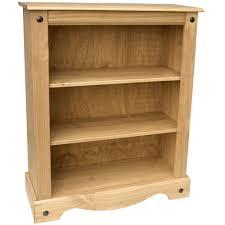 bookcase corona panama book dvd shelf drawer display solid waxed