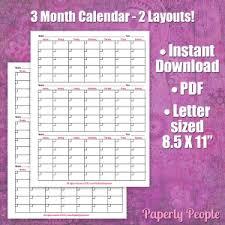 printable calendar 2016 etsy printable planner calendar system for staples arc system or 3 ring