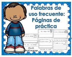 imagenes para colorear y escribir oraciones palabras de uso frecuente práctica de lectura y escritura