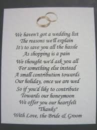 wedding gift list poems wedding 20 how to ask for money as a wedding gift image ideas