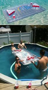 Pool Beer Pong Table by Inflatable Beer Pong Table Floatable Beer Pong Table