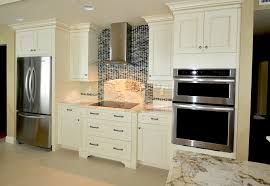 Kitchen With Mosaic Backsplash by Furniture Elegant Mosaic Tile Backsplash With White Kraftmaid