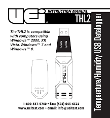 uei test instruments thl2 user manual 12 pages