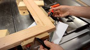 making a picture frame make molding on the table saw youtube