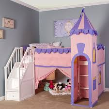 Castle Bunk Bed With Slide Bedding Bedroom Loft Beds With Stairs Bunk Stairway Castle Shape