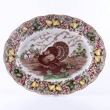 ceramic turkey platter barker brothers for weil ceramics thanksgiving turkey platter ebth
