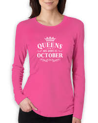 birthday gift for women queens are born in october women long