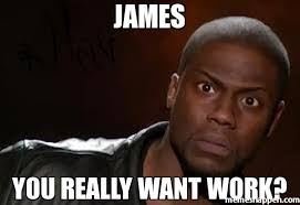 James Meme - james you really want work meme kevin hart the hell 23423