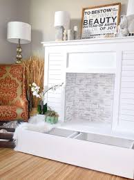 fireplace fireplace for bedroom faux fireplace for bedroom shiplap faux fireplace with hidden storage handmadehaven diy