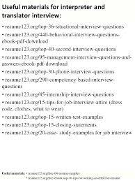 resume writing format pdf interpreter resume sle