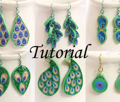 handmade paper earrings honeysquilling handmade paper quilled earrings pendants tutorials