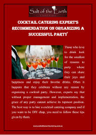 cocktail catering expert u0027s recommendation on organizing a successful u2026