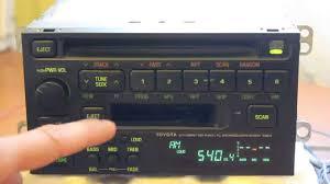 toyota car stereo toyota fujitsu ten ltd 16804 radio toyota fujitsu ten