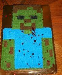 minecraft zombie birthday cake sons 5th birthday