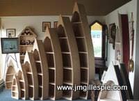4 foot row boat bookshelf shelf bookcase shelves hand crafted