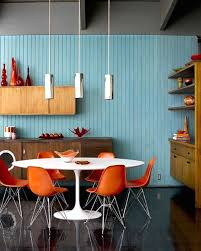mid century modern dining room via source lovely decoration