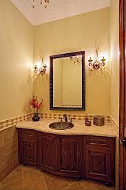 glass pedestal sink powder room traditional with arabesque bronze