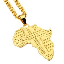 aliexpress buy nyuk new arrival men ring gold nyuk trendy gold africa map pendant necklace with 75cm cuban chain