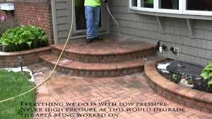 Patio 45 Patio Pavers 5 Power Washing Brick Paver Walkway To Remove Dirt Youtube
