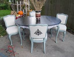 French Provincial Kitchen Table by French Provincial Table Makeover Designed Decor