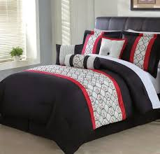 Red White Comforter Sets Black And White Comforter Sets King Home Design Ideas
