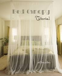 How To Make Basic Curtains How To Make A Ceiling Bed Canopy Tutorial Bed Canopy Diy