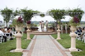 outside wedding decorations rustic outdoor wedding altar