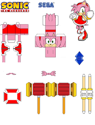 Sonic The Hedgehog Papercraft - sonic the hedgehog papercraft by tvfan0001 on deviantart