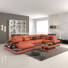 Modern Italian Leather Sofa by Orange Leather Sofa Orange Leather Sofa Suppliers And