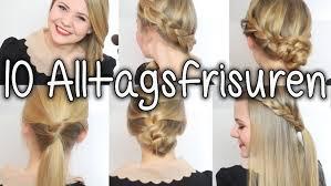 Einfache Elegante Frisuren F Lange Haare by 10 Alltagsfrisuren In 5 10 Minuten Schule Uni