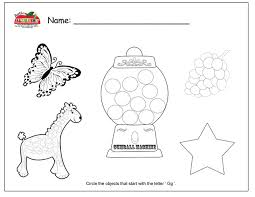 letter g preschool worksheets worksheets