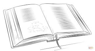 open book coloring free printable coloring pages