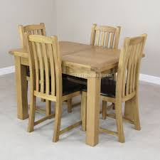 oak extending dining table and chairs with design gallery 6809