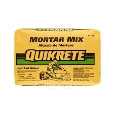 quikrete 60 lb mortar mix 110260 the home depot
