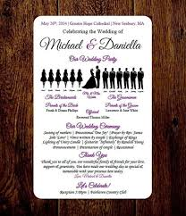print your own wedding programs diy wedding program template choose number of silhouettes