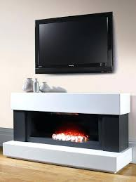 Electric Fireplace Suite White Wall Mounted Electric Fireplace U2013 Bowbox