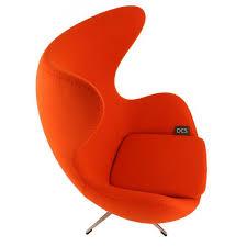 aj egg chair by arne jacobsen in orange wool