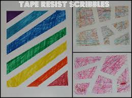 tape resist art the imagination tree