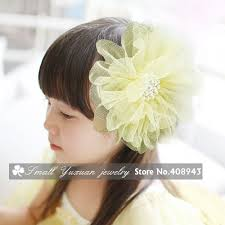 hair corsage pearl tulle flower hair bridal party girl flowers