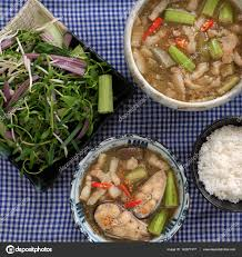 vietnamese food for daily meal mam kho u2014 stock photo