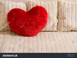 fluffy soft red heart pillow on stock photo 9185863 shutterstock