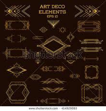 Art Deco Design Elements Art Deco Vintage Frames Design Elements Stock Vector 184361291