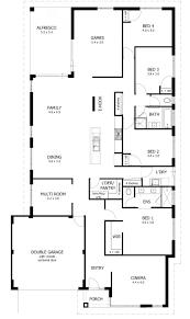 home floor plans no garage simple 4 bedroom house plans luxihome