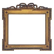 19th century frame gilded applied ornament on wood 19th