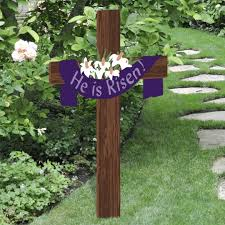 Outside Easter Decorations Ideas by He Is Risen Easter Yard Cross Outdoor Nativity Easter Cross And