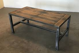coffee table with iron base pallet design cole baxter creations
