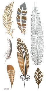 amazon com gold u0026 silver u0026 black feather design metallic