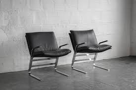 Leather And Chrome Chairs Chrome And Black Leather Lounge Chairs U2013 The Good Mod