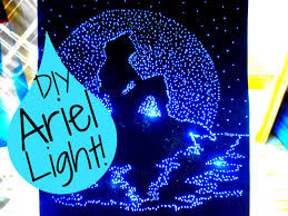 diy the little mermaid light up pinhole art room decor diy u0026 i