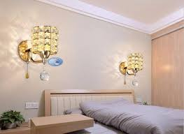 Wall Sconce With Pull Chain Switch Ac85 265v Pull Chain Switch Crystal Wall Lamp Lights Modern Zipper